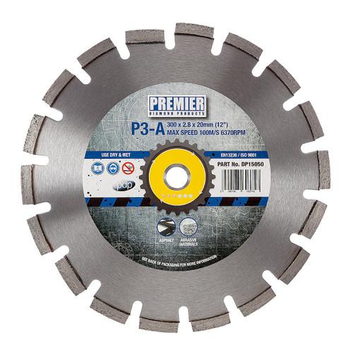 PDP DP15050 Diamond Blade P3-A 3* Asphalt & Abrasive Materials 300mm x 20mm  - 2