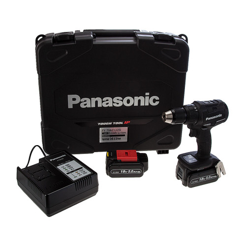 Panasonic EY79A2LJ2G 14.4/18V Dual Voltage Brushless Combi Drill (2 x 18V 5.0Ah Batteries) - 1