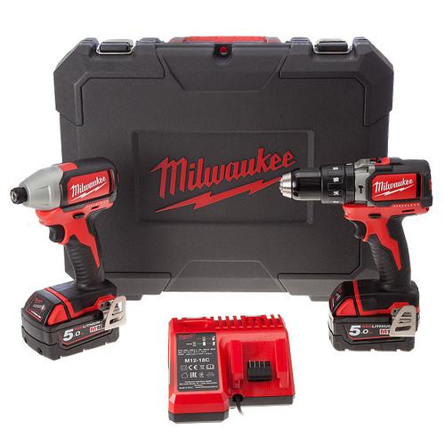 Milwaukee BLPP2B-502C 18V Cordless Brushless li-ion 2 Piece Kit (2 x 5.0Ah Batteries) - 6