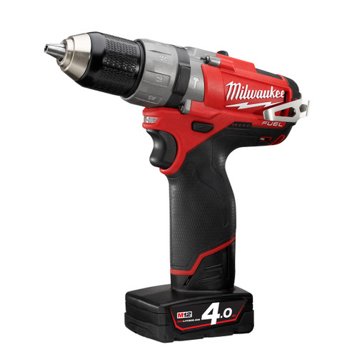 Milwaukee M12CPD-402C M12 Fuel Compact 2-Speed Percussion Drill (2 x 4.0Ah Batteries) - 6