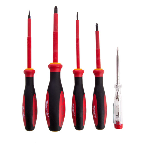 Milwaukee 4932464066 VDE Screwdriver Set (5 Piece) - 4