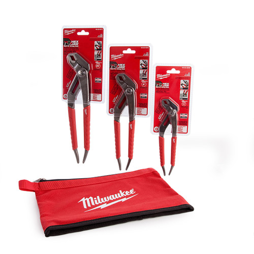 Buy Milwaukee Plier Kit Triple Pack with Red Contractors Pouch at Toolstop