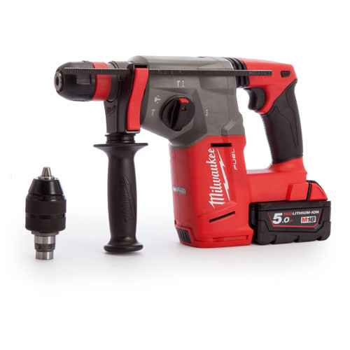 Milwaukee M18CHX-502X SDS Plus Hammer Drill (2 x 5.0Ah Batteries) - 4