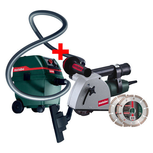 Buy Metabo MFE30KIT Wall Chaser with ASR 2025 Vacuum Cleaner 240V at Toolstop