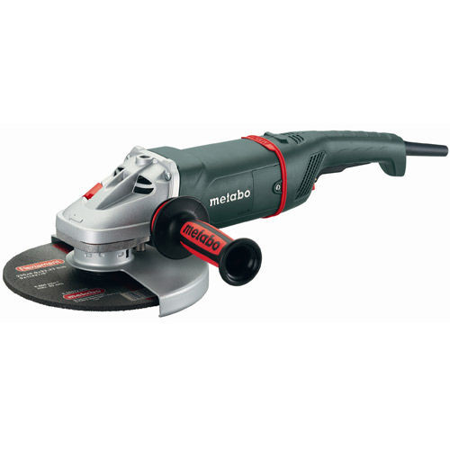 "Metabo W22-180 180mm (7"") Low Vibration Angle Grinder - with Dead Mans Paddle Switch 110V - 1"