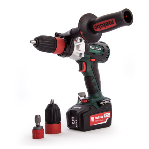 Metabo 603827500 GB 18 LTX BL Q I 18V Cordless Drill / Screwdriver / Tapper (2 x 5.2Ah Batteries) - 4