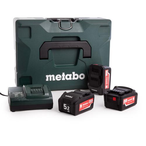 Metabo 685062000 Basic Set 3 x 18V 5.2Ah Batteries, ASC30-36V Charger in Metaloc II Case - 2