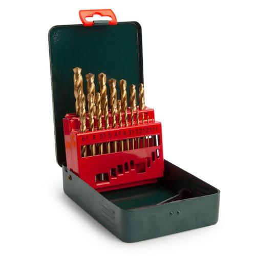 Metabo 6.27156 HSS-TiN Drill Bit Set for Metal 1 - 10mm (19 Piece)