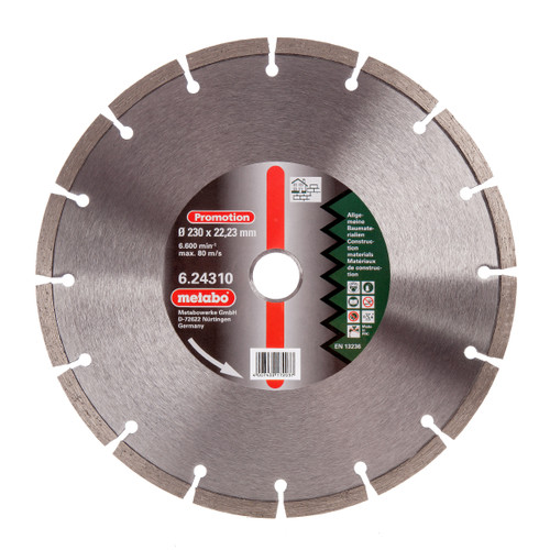 Metabo 6.24310 Diamond Cutting Disc Universal 230mm x 22.23mm - 2