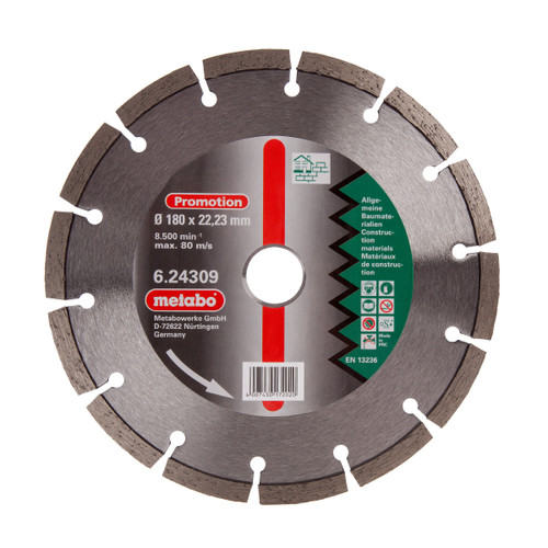 Metabo 6.24309 Diamond Cutting Disc Universal 180mm x 22.23mm - 2