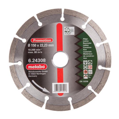 Buy Metabo 6.24308 Metabo Diamond Cutting Disc Universal 150mm x 22.23mm at Toolstop