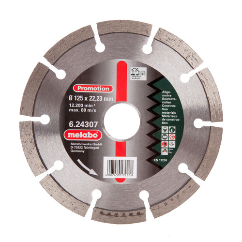 Metabo 6.24307 Diamond Cutting Disc Universal 125mm x 22.23mm - 2