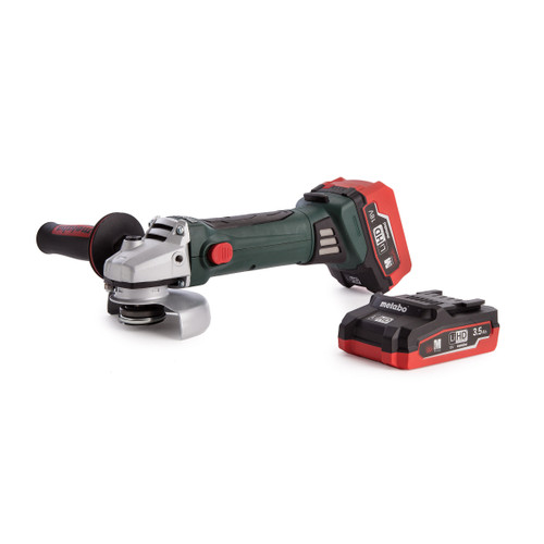 Metabo W18LTX Cordless Angle Grinder + 2 x Batteries & Charger - 8