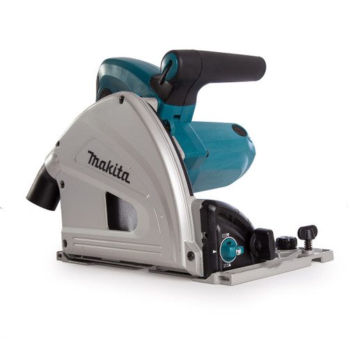 Makita SP6000J1 Plunge Cut Saw 165mm Blade in Makpac Case with 2 Guide Rails and Connector 110V - 6