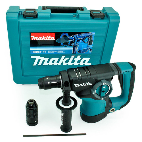 Buy Makita HR2811FT SDS+ Rotary Hammer Drill with Quick Change Chuck 110V at Toolstop