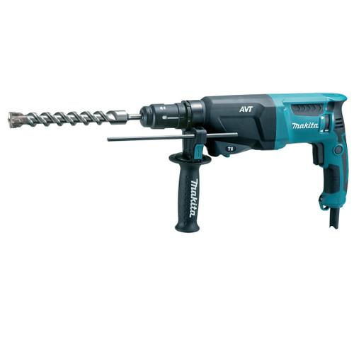 Buy Makita HR2611FX3 SDS+ 3 Mode AVT Rotary Hammer Drill with Keyless Chuck & Bit Set 110V at Toolstop