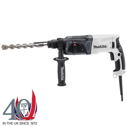 Buy Makita HR2470WX SDS+ Rotary Hammer Drill 40th Anniversary Edition (White) 240V at Toolstop