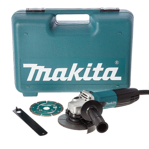 Makita GA4530KD 115mm Slim Angle Grinder with Diamond Blade 720W 110V - 3