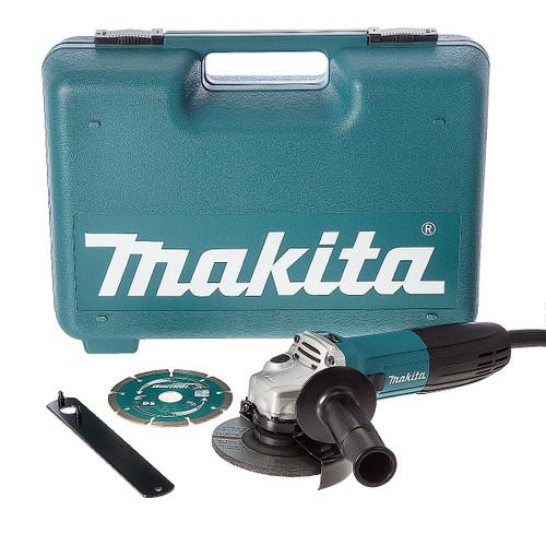 Makita GA4530KD 115mm Slim Angle Grinder with Diamond Blade 720W 240V - 3