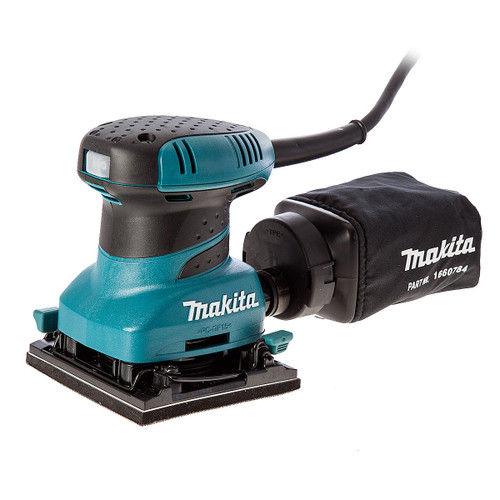 Makita BO4555 Hook and Loop Palm Sander with Dustbag 110V - 4
