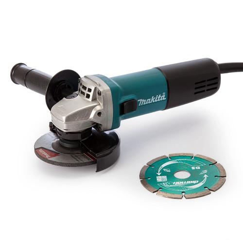 Makita 9557NBRX1 Angle Grinder 840W 115mm 110V - 4