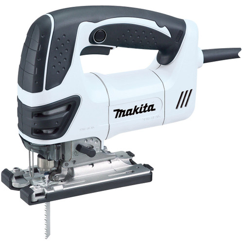 Makita 4350FCTWJX Jigsaw Orbital Action Special Edition White with 21 Blades and Makpac case 240V - 4