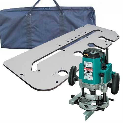Makita 3612CXY 1/2in Plunge Router 110V with Jig and Carry Bag - 1