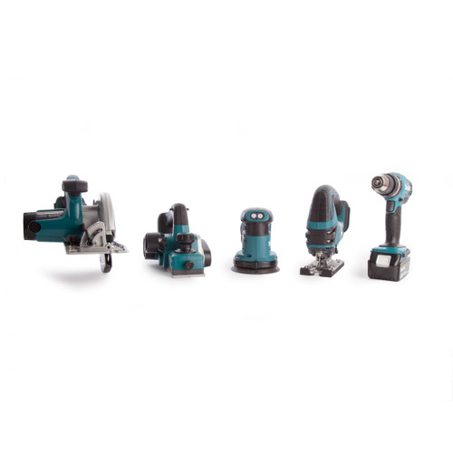 Makita 5 Piece Cordless Woodworking Kit 18V With Charger and Large Toolbag (2 x 3.0Ah Batteries) - 7