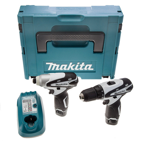 Makita LCT204WJ 10.8V Li-ion 2 Piece Cordless Kit (2 x 1.3Ah Batteries) - White - 3