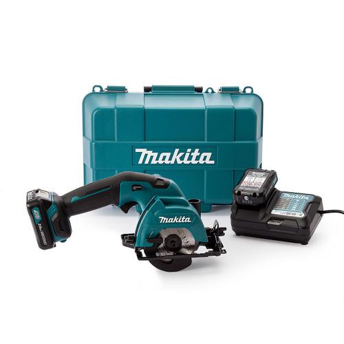 Makita HS301DWAE 10.8V CXT Cordless Circular Saw 85mm (2 x 2.0Ah Batteries) - 4