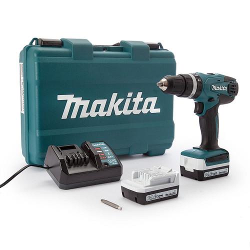 Makita HP347DWE 14.4V Cordless Hammer Drill Driver (2 x 1.3Ah Batteries) - 5