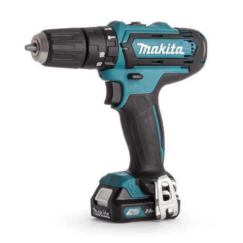 Makita HP331DWAX1 10.8V CXT Cordless Combi Drill (2 x 2.0Ah Batteries) with 74 Piece Accessory Set - 4