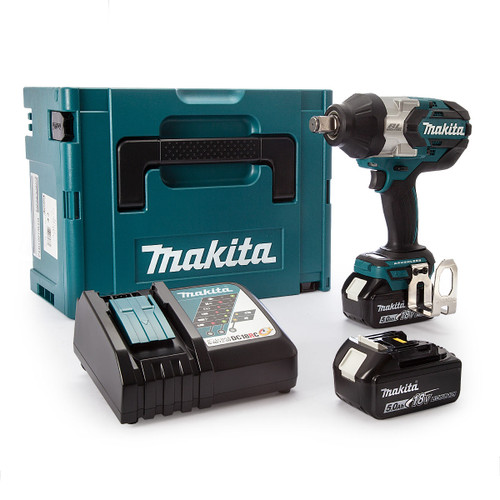 Makita DTW1001RTJ 18V LXT Brushless Impact Wrench 3/4in Square Drive (2 x 5.0Ah Batteries) - 7