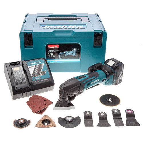 Makita DTM50RM1J3 LXT 18V Li-Ion Cordless Oscillating Multicutter (1 x 4Ah Battery) plus 30 Accessories - 3
