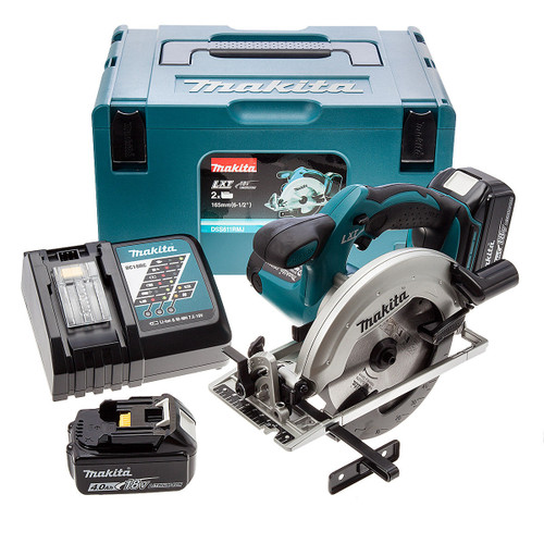 Makita DSS611RMJ 18V LXT Circular Saw (2 x 4.0Ah Batteries) - 6