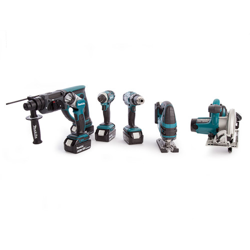 Makita DLX6068-5 18V li-ion 6 Piece Cordless Kit with Twin Charger (5 x 3.0Ah Batteries) - 8