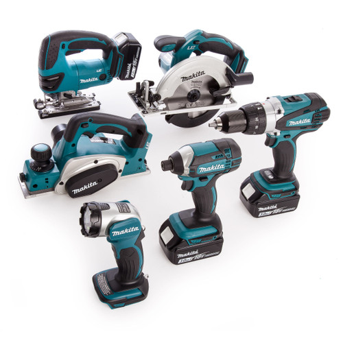 Makita DLX6067 6 Piece Kit, DC18RC 18V Charger and Large Toolbag (3 X 3.0Ah Batteries) - 9