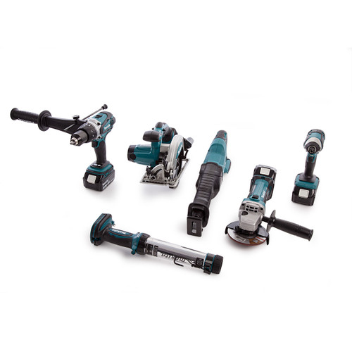 Makita DLX6044 18V li-ion 6 Piece Cordless Kit (3 x 3.0Ah Batteries) with Twin Charger - 8