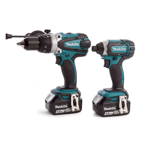 Makita DLX2145MJ 18V LXT Twin Pack - DHP458 Combi Drill + DTD152 Impact Driver (2 x 4.0Ah Batteries) - 5