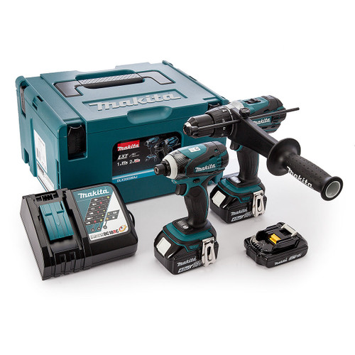Makita DLX2005MAJ 18V Twin Pack - DHP458 Combi Drill + DTD146 Impact Driver (2 x 4.0Ah + 1 x 2.0Ah Batteries) with MakPac Case - 7