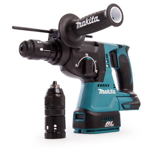 Makita DHR243Z 18V Brushless 3-Mode SDS Plus Rotary Hammer Drill 24mm with Quick Change Chuck (Body Only)