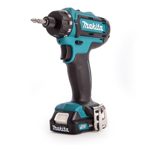 Makita DF031DWAE 10.8V CXT Cordless Drill Driver (2 x 2.0Ah Batteries) - 4