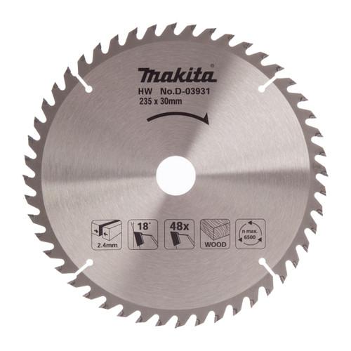 Makita D-03931 Circular Saw Blade for Wood 235mm x 30mm x 48T - 2