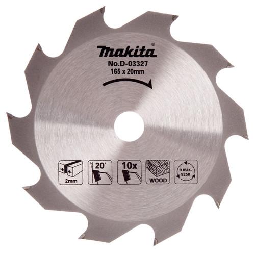 Makita D-03327 Circular Saw Blade for Wood 165mm x 20mm x 10T - 2