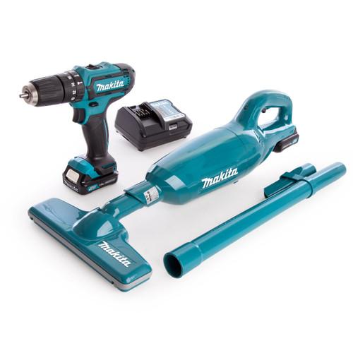 Makita CLX214X1 10.8V CXT HP331D Combi Drill + CL106FD Vacuum Kit (2 x 1.5Ah Batteries) - 5