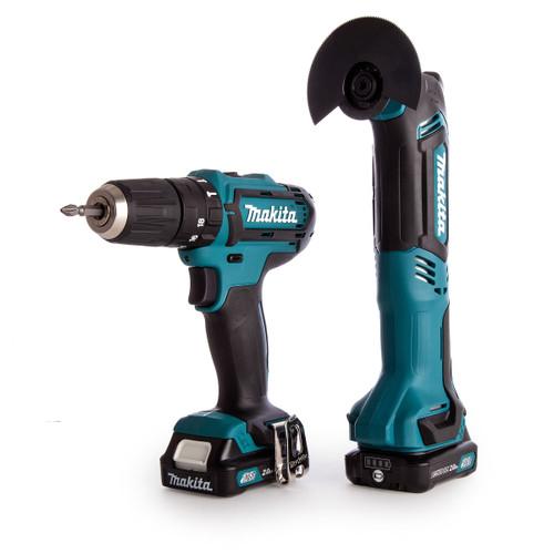 Makita CLX203AJX1 10.8V CXT Twin Pack - HP331D Combi Drill + TM30D Multi Tool (2 x 2.0Ah Batteries) - 5