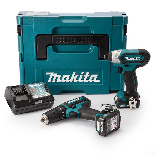 Makita CLX202AJ 10.8V CXT Twin Pack - HP331D Combi Drill + TD110D Impact Driver (2 x 2.0Ah Batteries) - 6