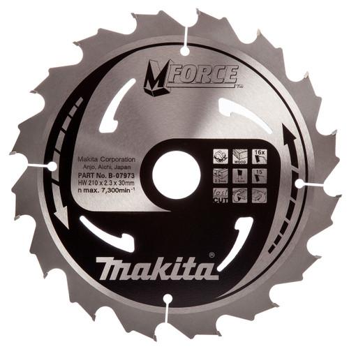 Makita B-07973 M Force Circular Saw Blade 210 x 30mm x 16T - 2