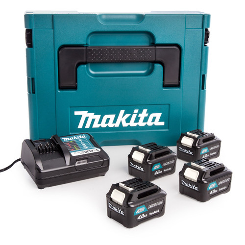 Makita 197638-1 CXT 10.8V Battery & Charger Set in Makpac Case (4 x 4.0Ah Batteries) - 2