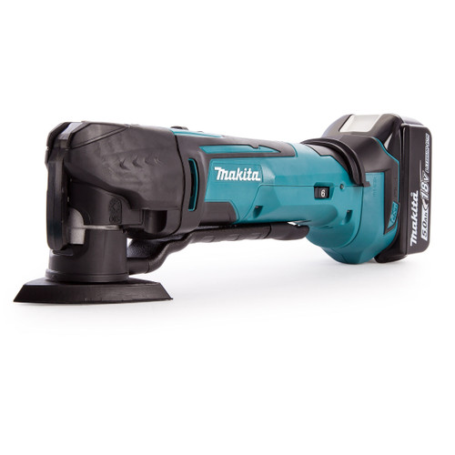 Makita DTM51ZJX7 18V Multi-tool with Accessories in Case + DC18RD Twin Charger (2 x 5.0Ah Batteries) - 6